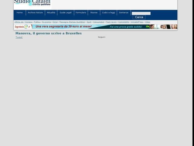 Manovra, il governo scrive a Bruxelles