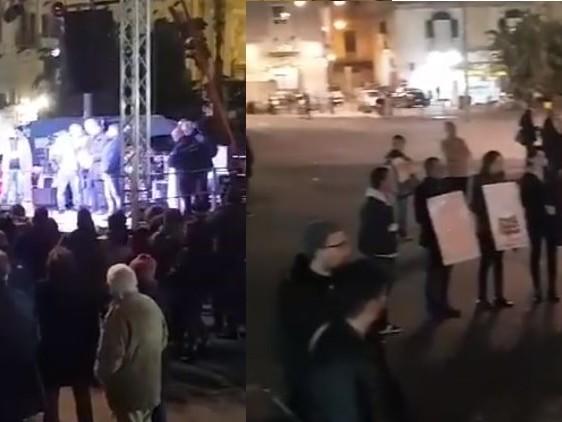 Napoli, flop di sardine e antagonisti Vuota la piazza anti-Salvini