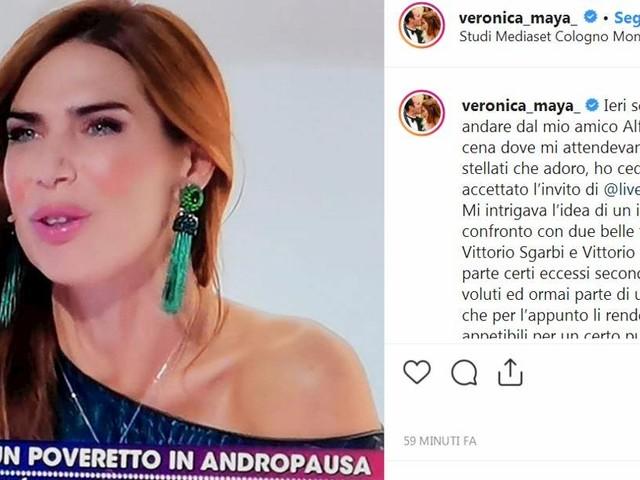 """Live non è la D'Urso, Veronica Maya contro Vittorio Feltri: """"Schifo d'uomo sul viale del tramonto"""""""