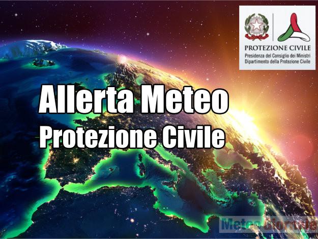ALLERTA meteo Protezione Civile: venti fino a burrasca forte o tempesta