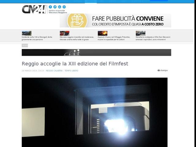 Reggio accoglie la XIII edizione del Filmfest