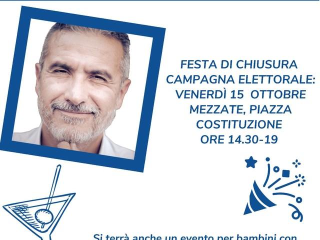 Peschiera, venerdì 15, il candidato sindaco Moretti chiude la campagna elettorale con una festa per famiglie in Piazza della Costituzione