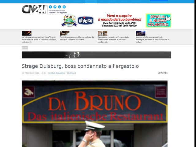 Strage Duisburg, boss condannato all'ergastolo