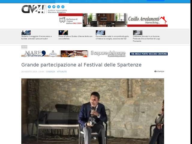 Grande partecipazione al Festival delle Spartenze
