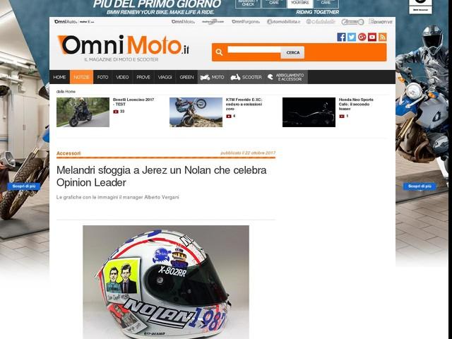 Melandri sfoggia a Jerez un Nolan che celebra Opinion Leader