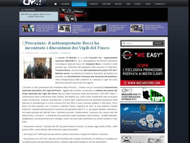 Precariato: il sottosegretario Bocci ha incontrato i discontinui dei Vigili del Fuoco
