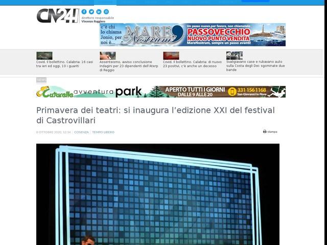 Primavera dei teatri: si inaugura l'edizione XXI del festival di Castrovillari