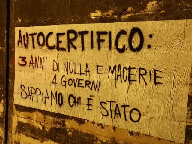"""""""Terre in Moto Marche"""" dà il benvenuto al premier Conte: """"3 anni di nulla e macerie"""" (FOTO)"""