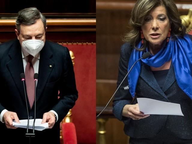 Draghi – Casellati siparietto al Senato: «Che è? La presidente mi toglie la parola?» [VIDEO]