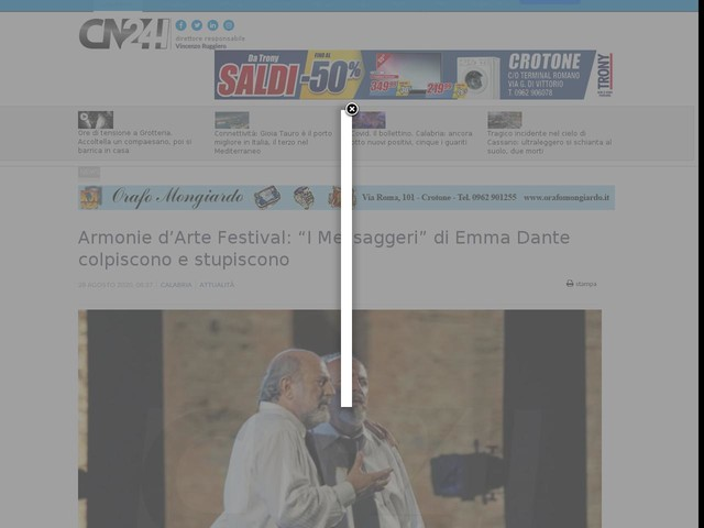 """Armonie d'Arte Festival: """"I Messaggeri"""" di Emma Dante colpiscono e stupiscono"""