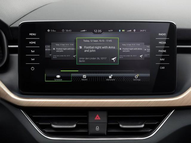 Skoda, l'auto diventa un ufficio mobile con la nuova Calendar App