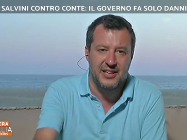 """Centrodestra di nuovo in piazza, Salvini: """"Seggioline per evitare assembramenti"""""""