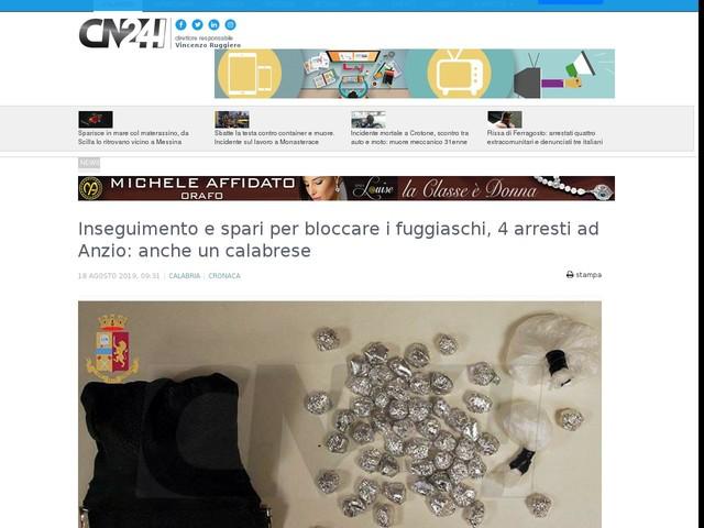 Inseguimento e spari per bloccare i fuggiaschi, 4 arresti ad Anzio: anche un calabrese