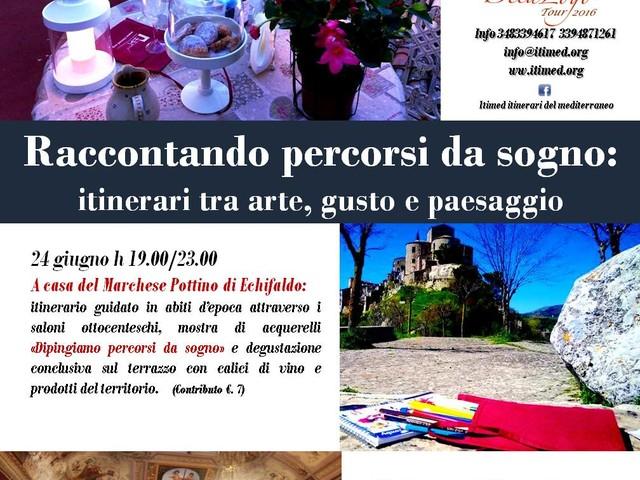 """""""Notte romantica dei Borghi più belli d'Italia"""", fotografia, disegno e scrittura nel nuovo itinerario Itimed a Petralia"""