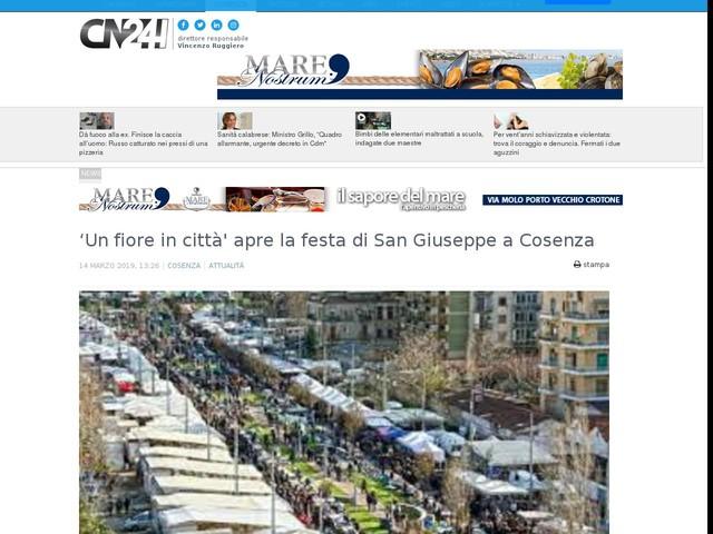 'Un fiore in città' apre la festa di San Giuseppe a Cosenza