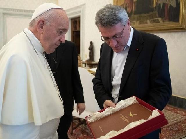 La Cgil in udienza privata da papa Francesco