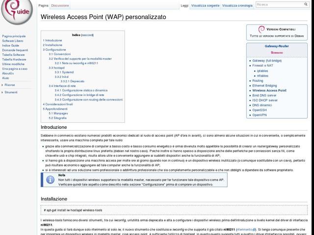 Wireless Access Point (WAP) personalizzato