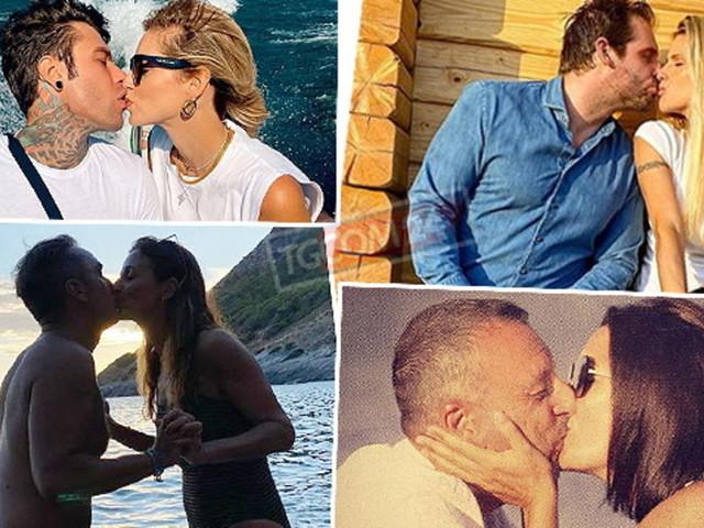 Coppie al bacio, guarda i vip che si lasciano andare alla passione