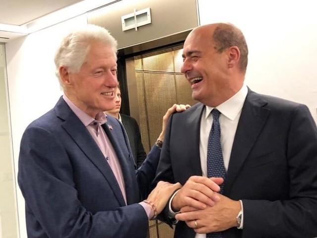 """Zingaretti incontra Clinton, la base Pd all'attacco: """"Bill non è di sinistra"""""""
