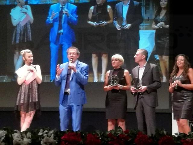 Lo speaker sanremese Maurilio Giordana ha ricevuto sabato scorso a Savona il premio 'Voci dell'Ombra' (Foto)
