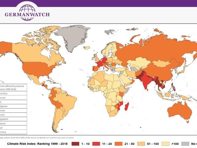 Germanwatch: «I rischi climatici aumentano in tutto il mondo, anche per i Paesi ad alto reddito»