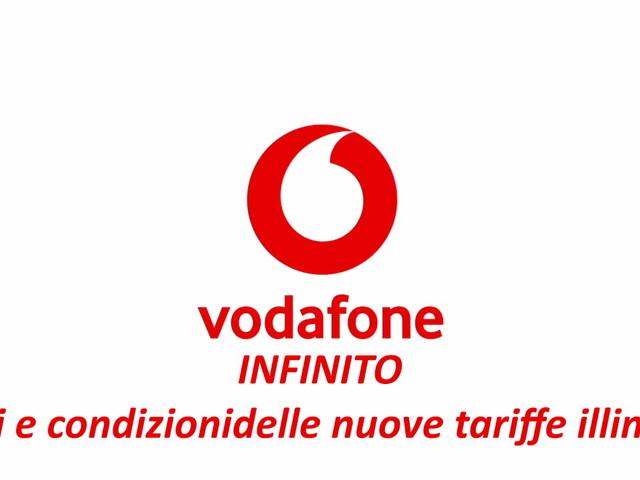 Vodafone Infinito ufficiale: prezzi e condizioni delle tre nuove tariffe illimitate