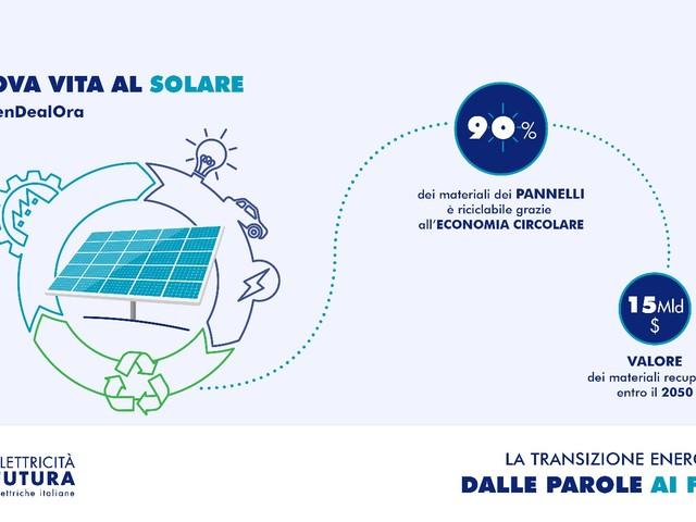 I costi del fotovoltaico diminuiti del 30%. Già oggi è possibile riciclare il 90% dei materiali dei pannelli