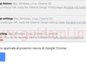 Come disattivare la grafica in Material Design di Google Chrome per PC