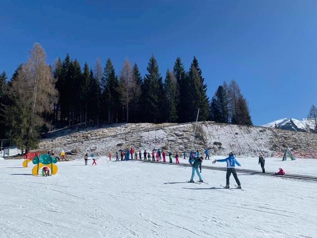 Primi passi sulla neve in Val di Fiemme