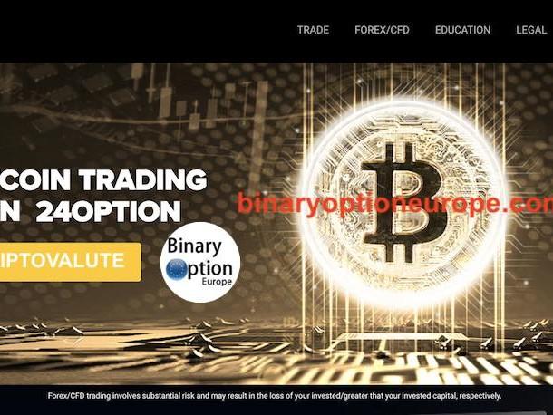24option criptovalute Bitcoin opinioni e recensioni piattaforma CFD