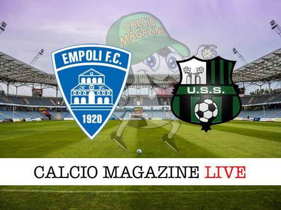 Empoli – Sassuolo: cronaca diretta live, risultato in tempo reale