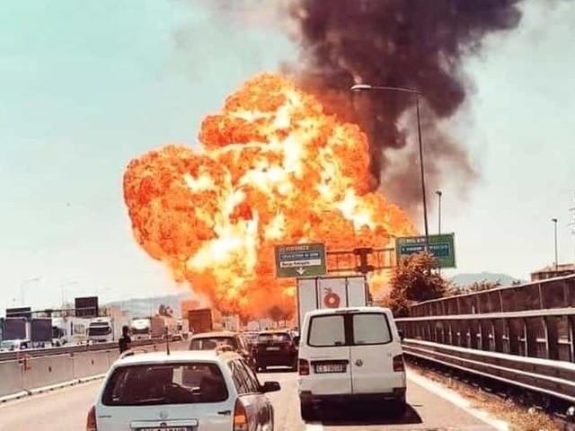 Rischio incendi in autostrada, controlli e multe da parte della polizia