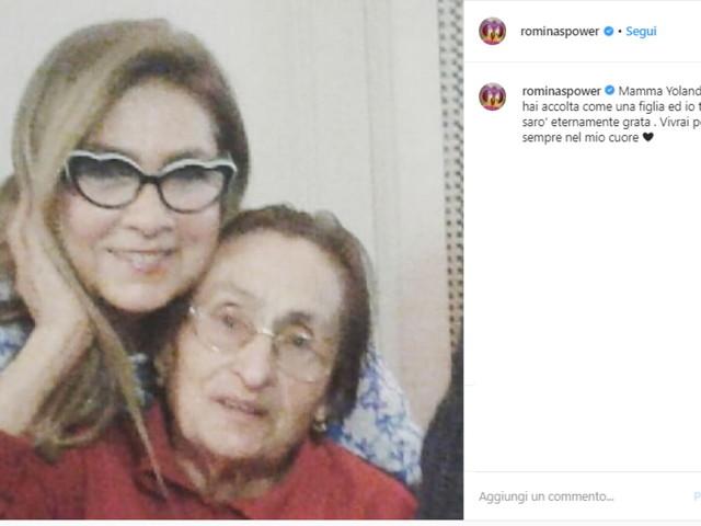 """Romina Power a mamma Jolanda morta: """"Mi hai accettato come una figlia"""""""