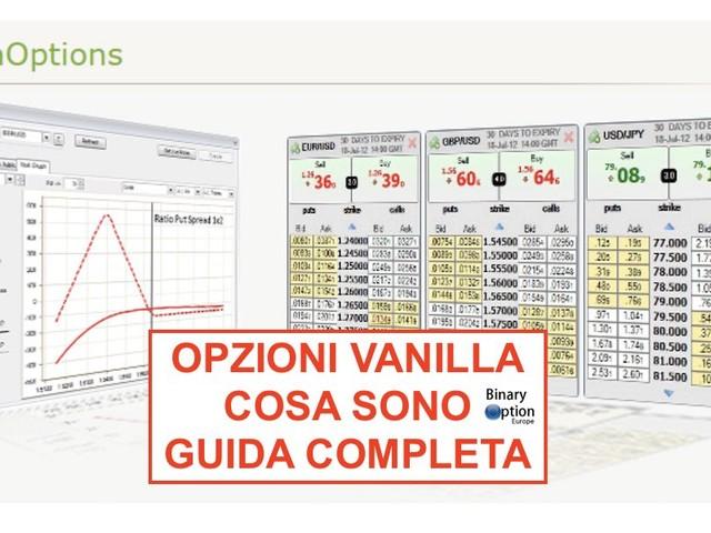 Cosa sono le opzioni Vanilla e come funziona AVAoptions [2021]