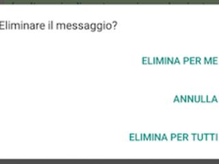 Come funziona Elimina per Tutti su WhatsApp