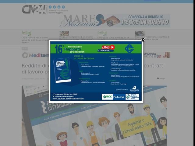 """Reddito di cittadinanza, M5S: """"In Calabria 25.500 contratti di lavoro per i percettori occupabili"""""""
