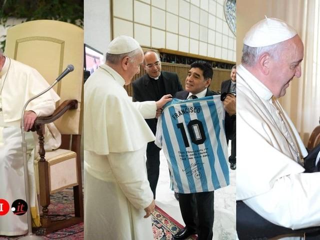 Papa Francesco dedica una storia a Diego Armando Maradona su Instagram