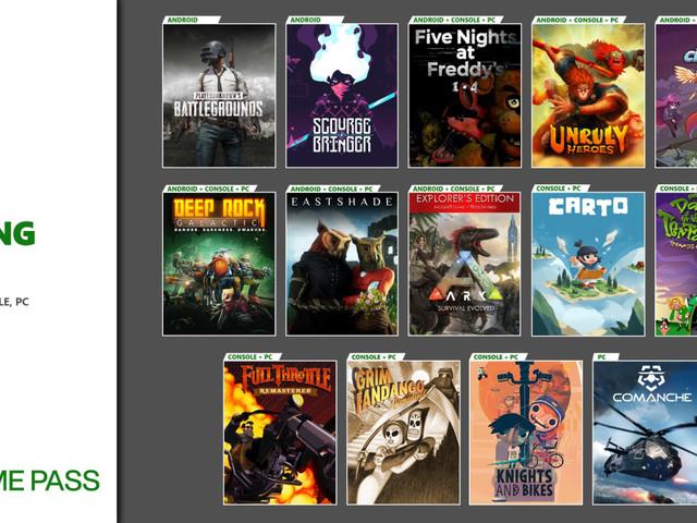 Xbox Game Pass – Tanti nuovi giochi in arrivo su PC, Android e Xbox One