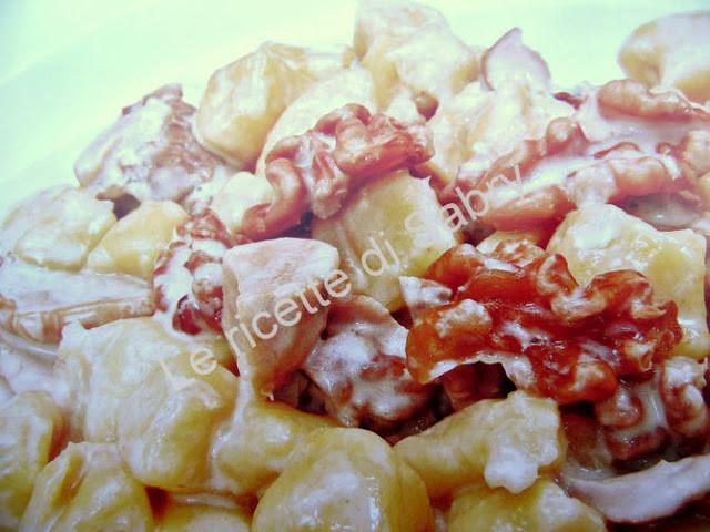 Gnocchi ai funghi e noci