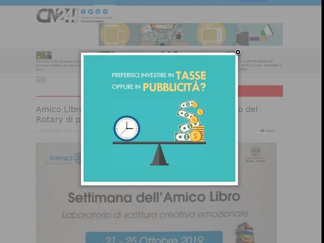 Amico Libro: a Rende parte nelle scuole il progetto del Rotary di promozione alla lettura