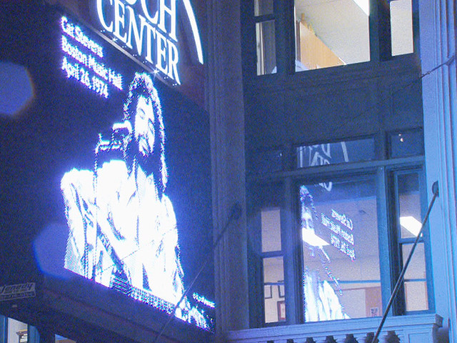 Boarded Up Wang Theatre Celebrates 95 Years With Marquee Exhibit