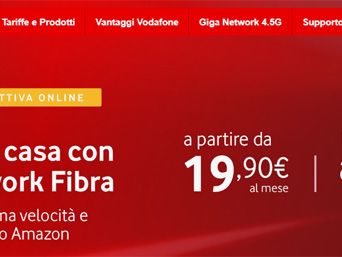 Vodafone regala Buono Regalo Amazon.it di 30 euro attivando una offerta Unlimited dal 16 al 19 gennaio