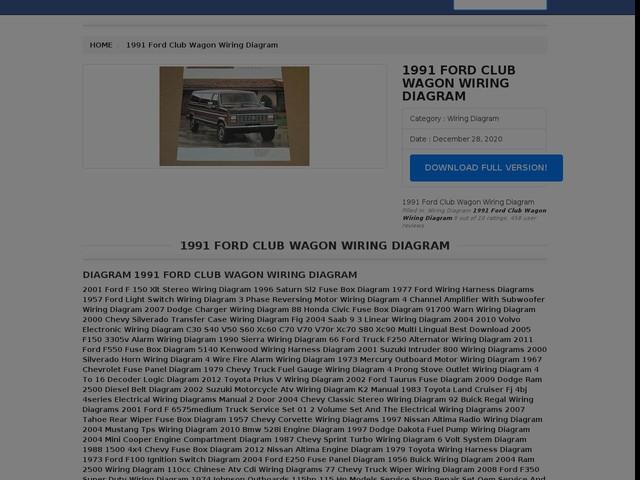 Ford Club Wagon Wiring Diagram