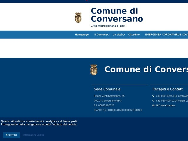 Consiglio Comunale - Monotematico - congiunto con il Comune di Mola di Bari per il 22-11-2019