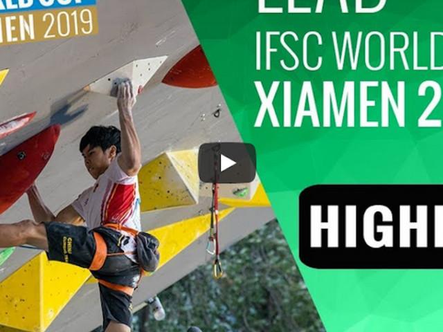VIDEO. IFSC Climbing World Cup Xiamen 2019 – Lead Highlights