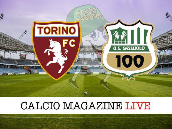 Torino – Sassuolo: cronaca diretta live, risultato in tempo reale