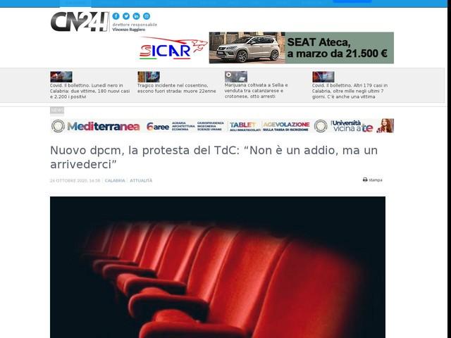 """Nuovo dpcm, la protesta del TdC: """"Non è un addio, ma un arrivederci"""""""