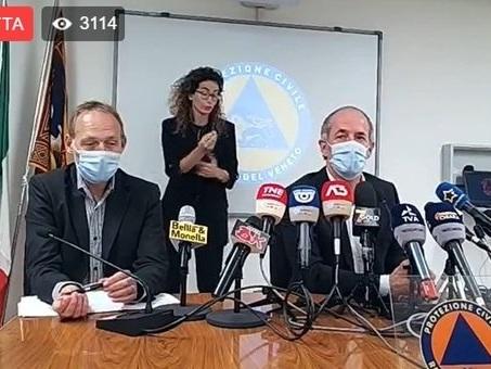 """Luca Zaia in diretta oggi. No Vax, «Uno mi ha scritto """"ti sparo in bocca"""", è un militare con famiglia: non sottovalutiamo queste cose». Il nodo terza dose di vaccino"""