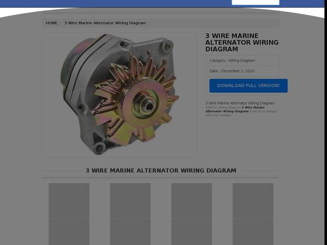 Wire Marine Alternator Wiring Diagram