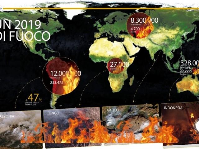 Il 2019 è stato un anno di fuoco per le foreste: solo in Amazzonia bruciati 12 milioni di ettari